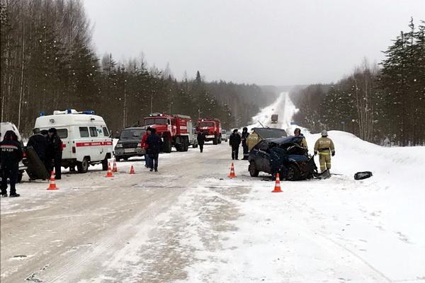 ВУсть-Куломском районе при столкновении машин погибли три человека